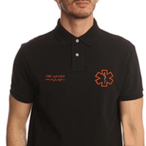 Polo Nera - Mezza Manica - Personalizzabile