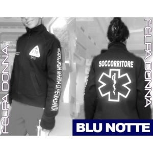Felpa Blue Notte - Zip - Personalizzabile