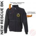 Felpa New Rescue Bk Con Porta Penne, Taschino Zip, Portabadge.
