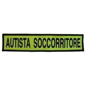 Qualifica Ricamo 24X5 Autista Soccorritore