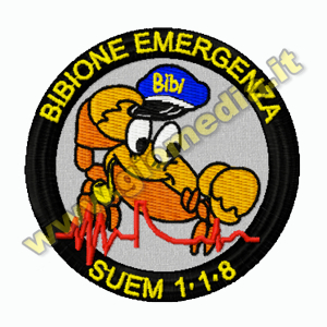 PATCH RICAMATA BIBIONE EMERGENZA