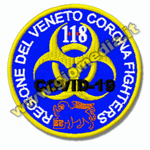 PATCH RICAMATA CORONA FIGHTERS REGIONE VENETO