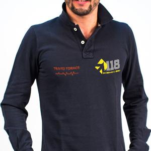 Polo Blu Navy - Manica Lunga - Personalizzabile
