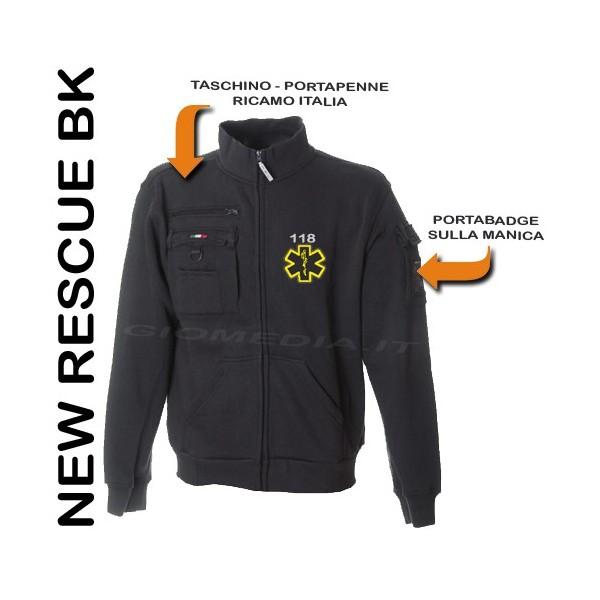 brand new 50cfa 30030 FELPA NEW RESCUE PER SOCCORRITORE PERSONALIZZABILE