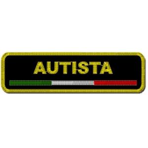 Etichetta Patch ricamata 10x2 cm AUTISTA + ITALIA