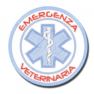 "Patch Ricamata ""EMERGENZA VETERINARIA"""