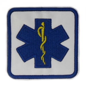 STAR OF LIFE cm 7X7 CON VELCRO