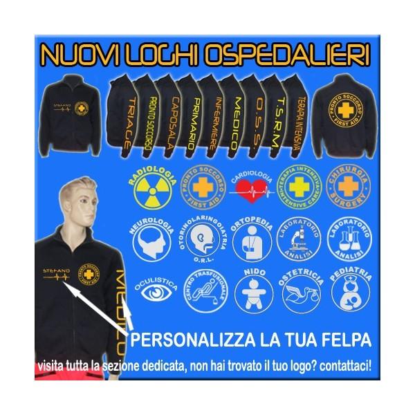 factory price e2a03 900c3 FELPA CLASSIC OSPEDALIERA PERSONALIZZABILE