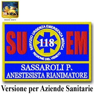 Patch ricamata 12x8cm 118 Regione Veneto versione per Aziende Sanitarie
