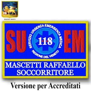 Etichetta Patch ricamata 4x4 cm Gruppo Saguigno